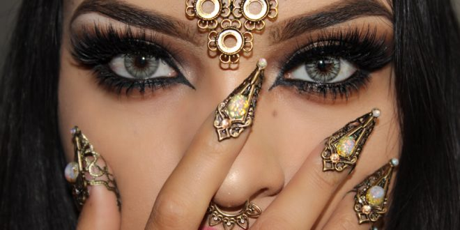 ماكياج العين لإمرأة عربية